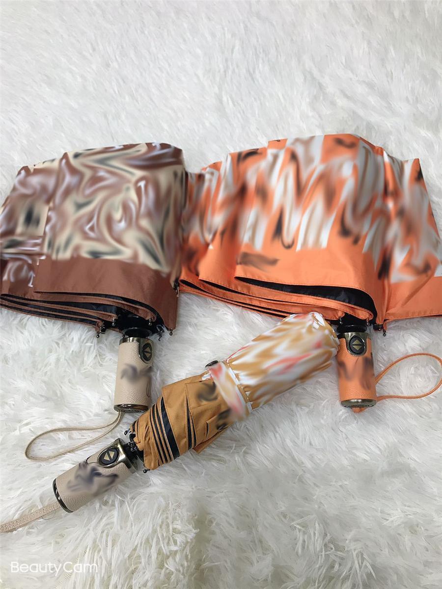 Ombrelloni da pioggia da sole vintage Moda stampata ombrellone antivento per le donne Summer Beach Protezione UV Parasole con scatola