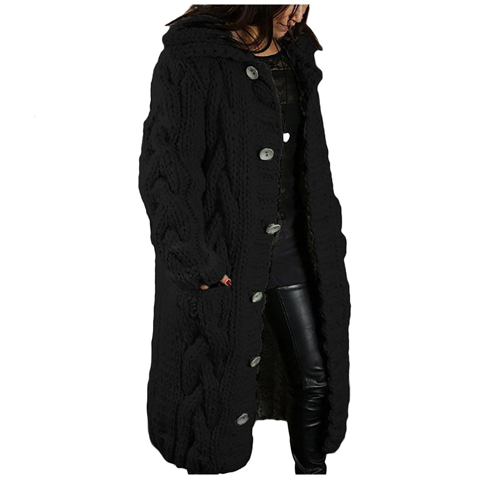 Coupe-vent femme cardigan cardigan de grande taille pull poche poche simple manches longues manches longues coupe-vent le 14 novembre