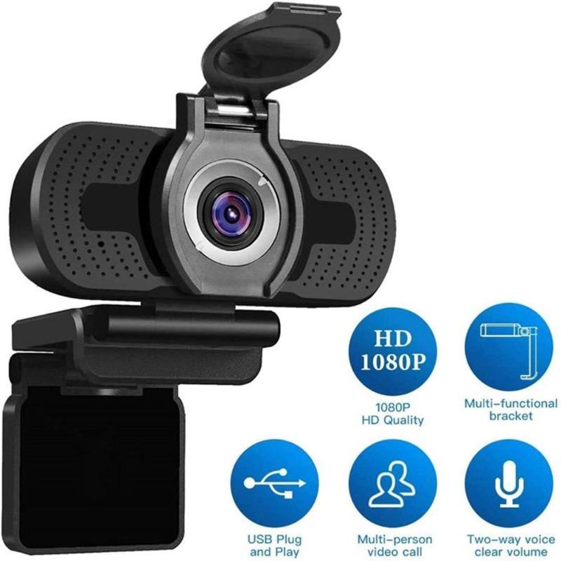 كاميرا ويب كاميرا USB HD 1080P الكمبيوتر مع غطاء الغبار كاميرا ويب للمؤتمر Webcast Video Full Camara Web Para PC