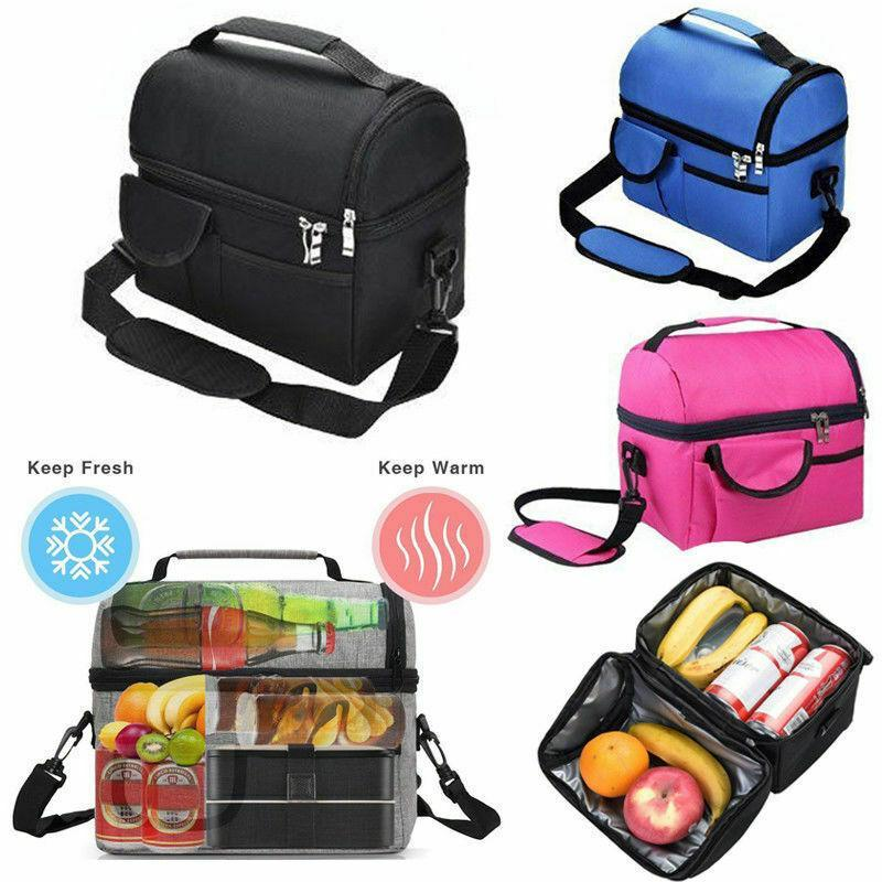 8L Insulated Lunch Bag Work Picnic Adult Kids Storage Lunchbox