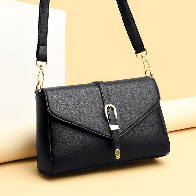 New Solid Color Doverne PORTABLER PU Semplicità Fashion High Capacità Piccola borsa quadrata Borsa a mano Borse da mano 2020 Q1119