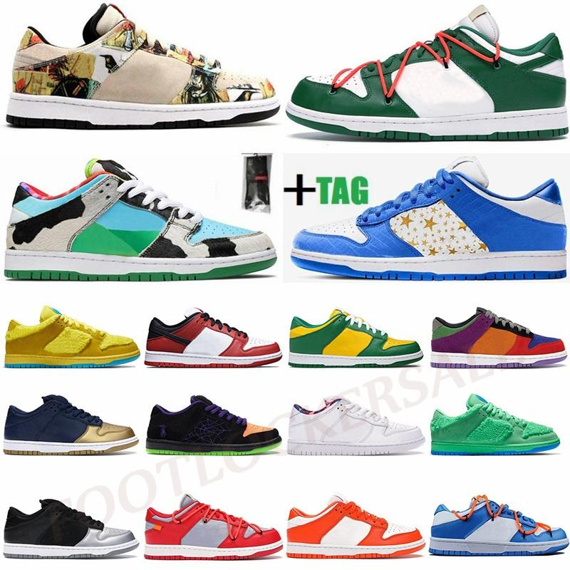 !Air! Dunk Hyper Blue Mean Green What The Paris Low 1 Mens Sneakers Bears White UNC Chiacago Womens SB Running Shoes Forcess Trainers