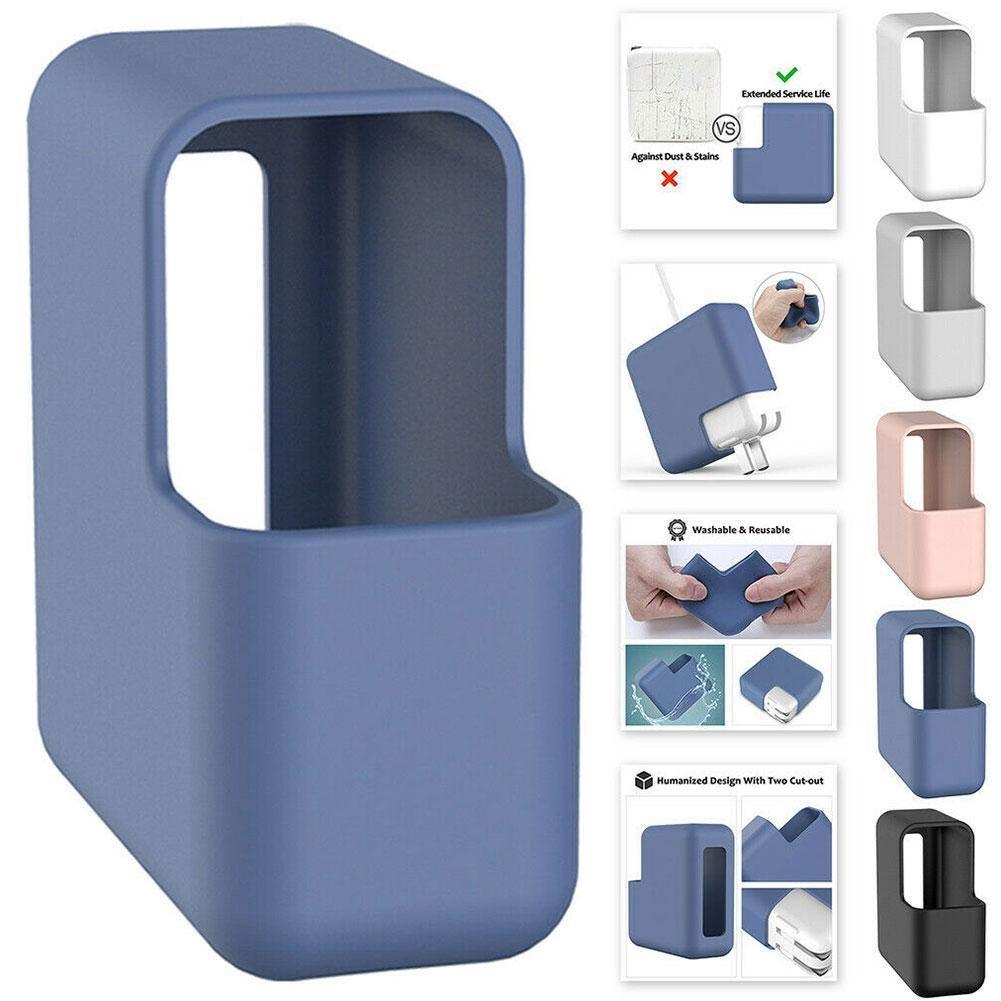 Carregador Laptop Silicone Case Organizador Protetores Dustproof portátil buchas caso protetor Adapter Para