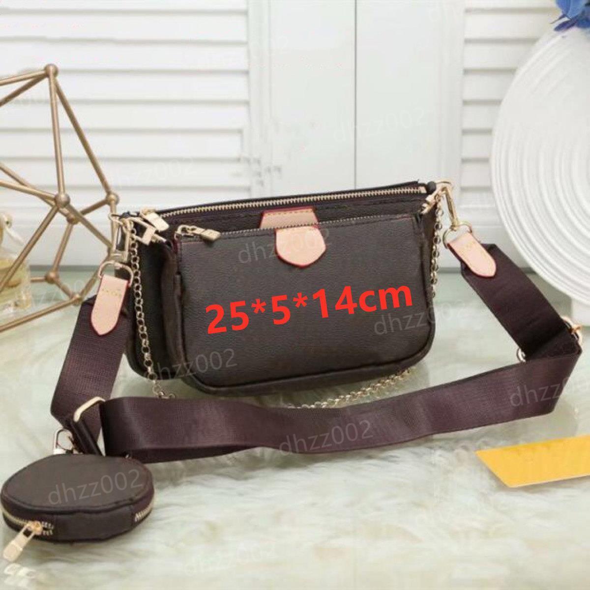 Venda Quente 3 Parte Set Multi Pochette Acessórios Bags Mulheres Crossbody Bag Bolsas De Couro Genuíno Bolsas Bolsas De Lona Moeda