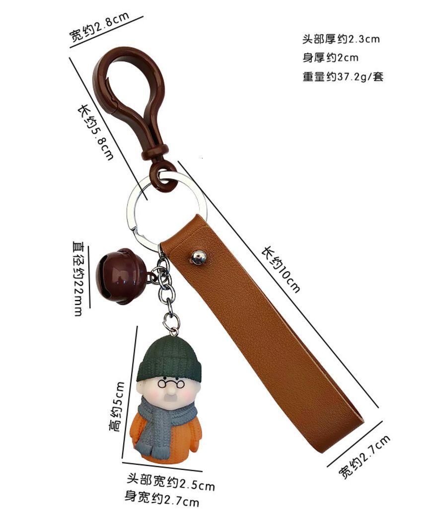 Versión coreana de lindos amantes de la resina Historieta creativa Muñeca 3D Cadena de llavero Colgante HTYI