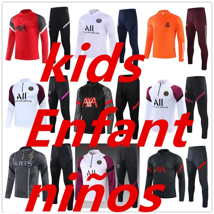 جديد 20 21 Kids Football Training Soccer Training Suit 2020 2021 Survetement De Foot Chandal Football Joggin
