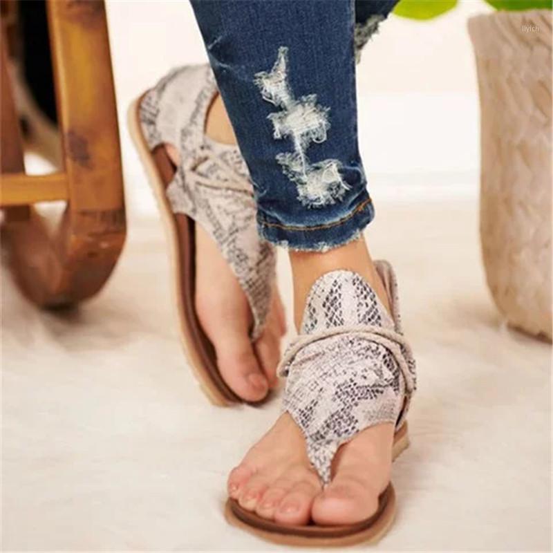 Nuovi sandali da donna 2020 Boho Style Leopard Stampa Leopardo Scarpe da donna Plus Size Dropshipping femmina Casual Beach Sandals1