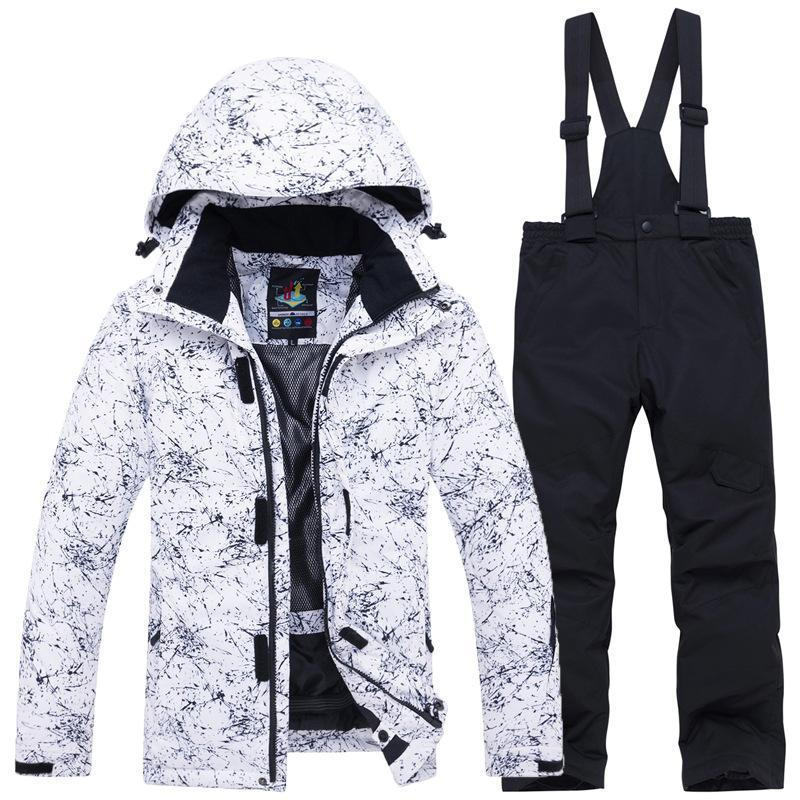 New Thicken Warm Ski Suit Men Women Winter Windproof Waterproof Skiing Snowboard Jacket Pants Suit Outdoor ski jacket
