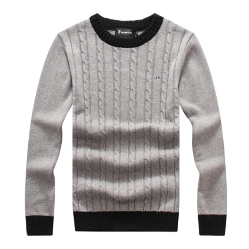 Sweaters de marques de haute qualité O-cou épais pull chaud chaud hommes occasionnels pull rayé automne hiver tricotwear pull Homme eden