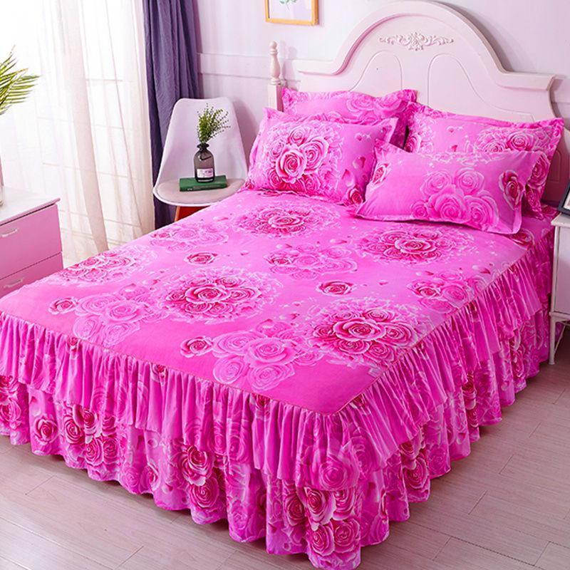 Bettrock Anzug Mode Europäischen amerikanischen Stil 1 BettPread + 2 Kissenbezug Bettwäsche Bettblatt Schlafzimmer Dekoration Liefert F0001