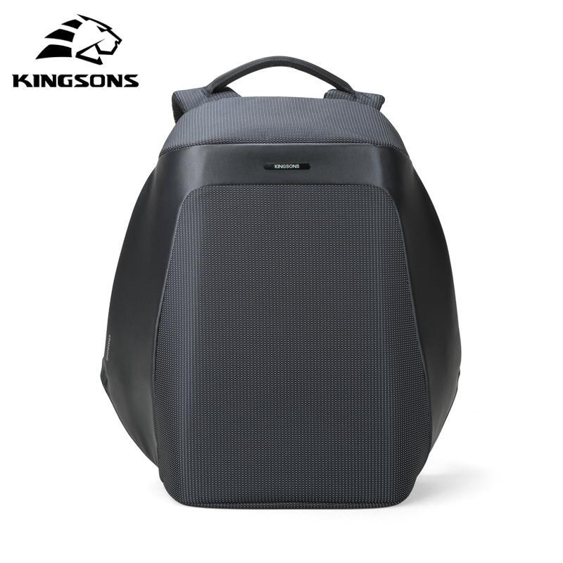 Kingsons Nuovo 15.6 '' Zaini per laptop Zaini per laptop USB Scuola di ricarica Borsa antifurto Anti-furto Uomo e donna Zaino Viaggio Mochila di alta qualità