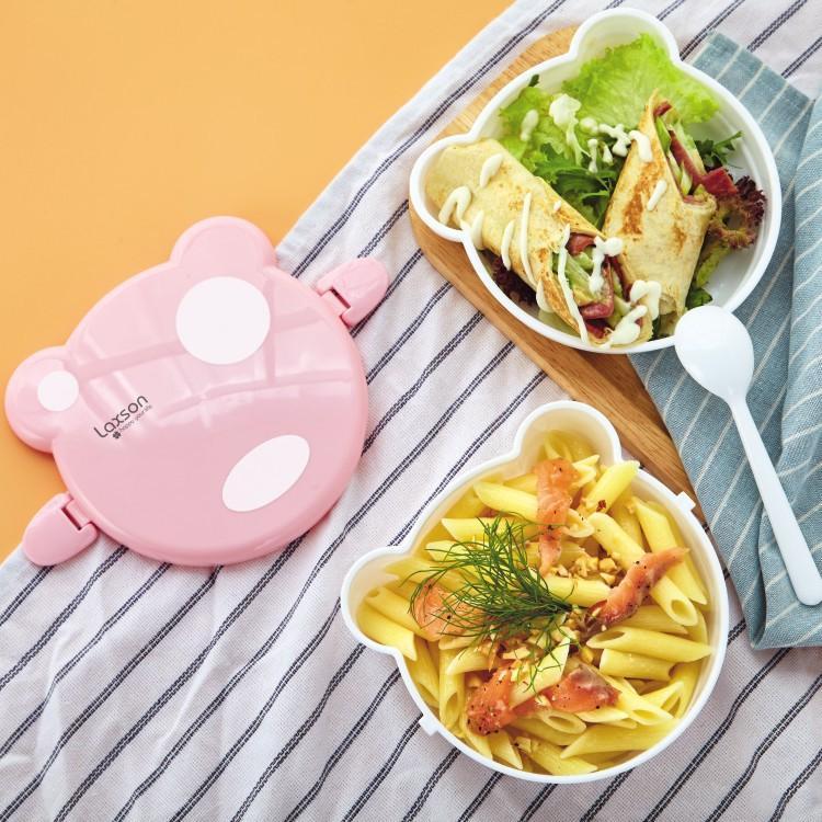 Cartoon japanischer Bento-Box mit Einzel- und Doppelschichten Mikrowellen-Snackbox zum Ausflug geeignet für den Geschirrspüler