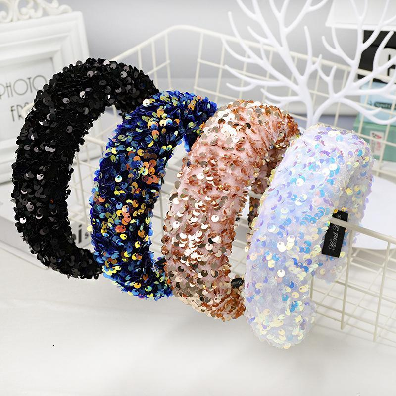 Fasgion Women Shiny New boutique headband high-grade fabric super shiny hairband hair accessories