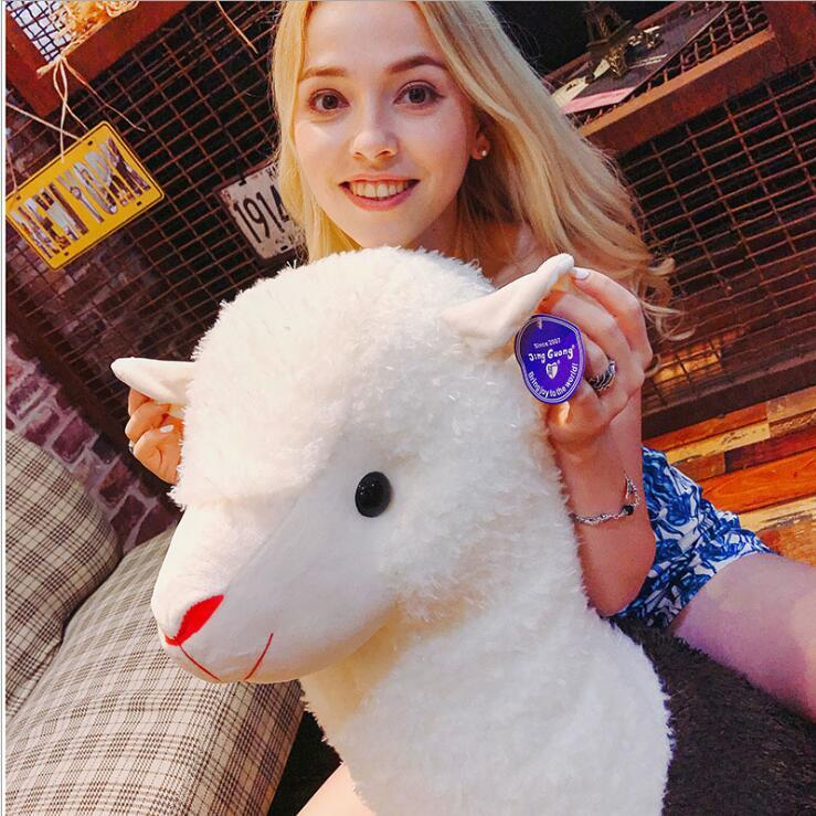 크리 에이 티브 Alpaca 플러시 장난감 인형 알파카 베개 귀여운 인형 Ragdoll 봉제 장난감 잠자는 베개 어린이 크리스마스 선물 생일 선물