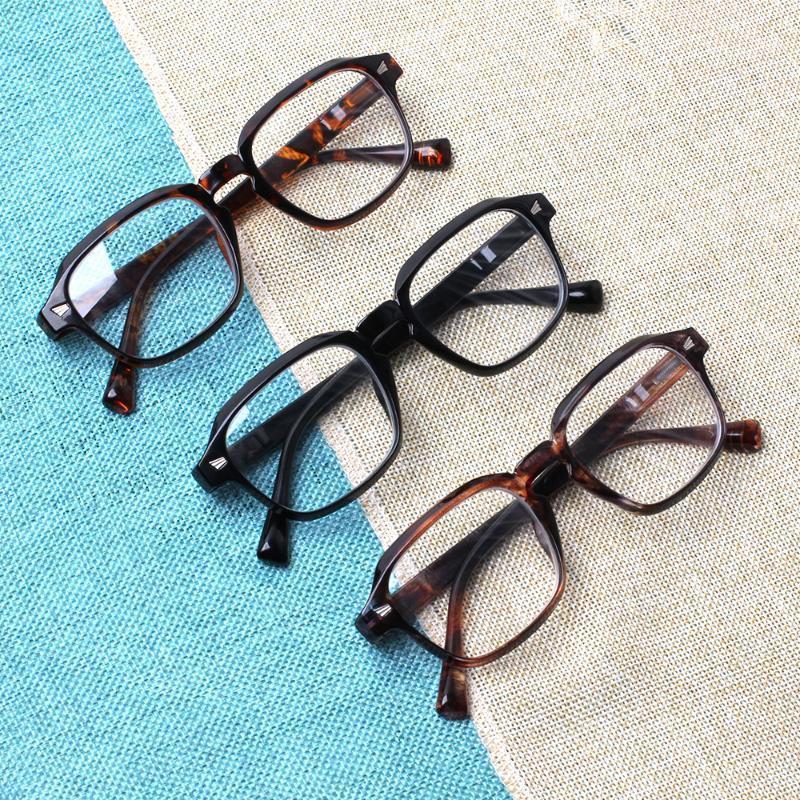 Henotin Leggendo gli occhiali da uomo e da donna I lettori di occhiali rotondi sovradimensionabili per donna Lettura telaio in plastica flessibile1