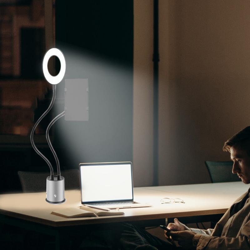 LED Selfie Anillo Light USB Llenaje Luz Light Ajustable Brillo Selfie Mejora Relleno para la transmisión en vivo Iluminación de maquillaje de belleza