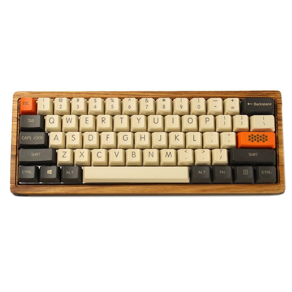 YMDK Özelleştirilmiş 61 ANSI Keyset OEM Profil Kalın PBT KeyCap Seti Kiraz MX Anahtarları için Uygun Mekanik Oyun Klavyesi LJ200925