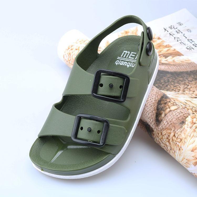 2020 neue sommer jungen sandalen für kinder strand schuhe kinder sport weich rutschfeste casual toddler baby pvc leder flache sandalen1