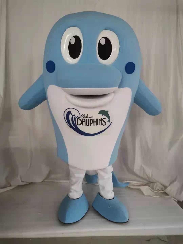 Haute Qualité Costume de mascotte de Dolphin Mascot pour la fête Caricature Costumes de mascotte de la caricature à vendre Livraison gratuite Support Personnalisation