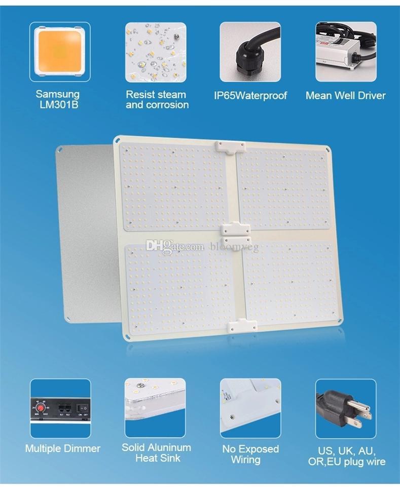 grow Lights LED Chip Full Spectrum Growth Light 3000K 3500K 5000K 760nm 450W Hydroponic Indoor Plant Tent AR4000