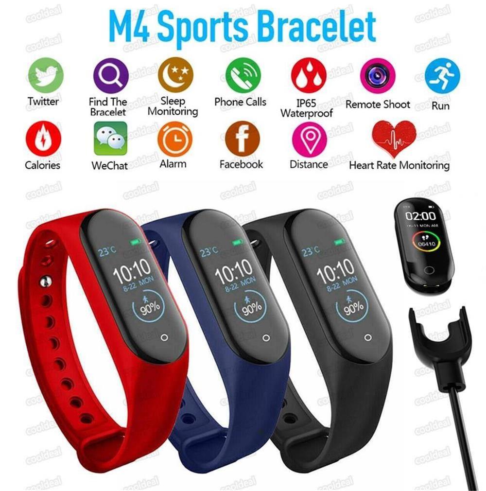 2020 NOUVEAU M4 Smart Band Fitness Tracker Watch Bracelet Sport Récompense cardiaque Smart Watch Fitbit Smartband Moniteur Santé Bracelet Mi Bande 4