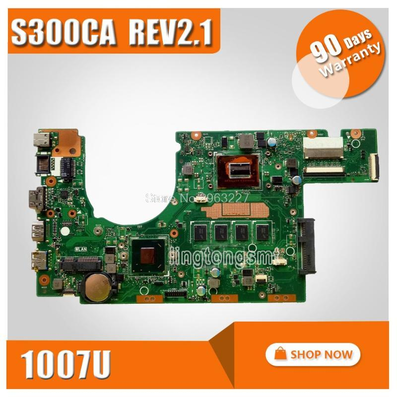 S300CA For Asus Laptop motherboard S300CA mainboard REV2.1with 1007 cpu onboard 100% tested