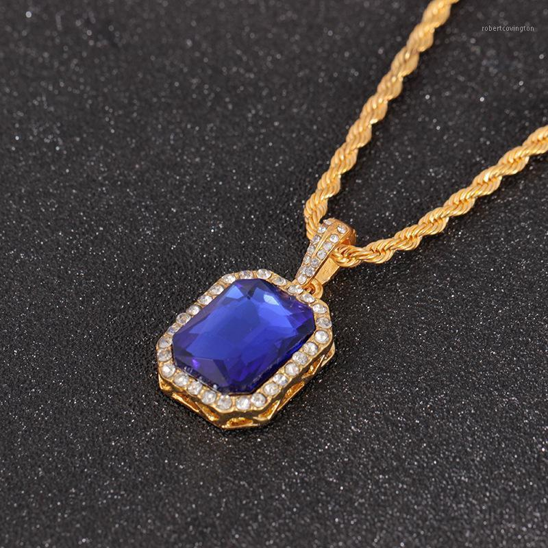 Цепи Rongqing 12 шт. / Лот Gemstones Choker Заявление Ожерелье Женщины 5 Цветов Кристалл Подарки на 2021 1