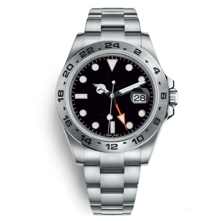 Schwarze Uhr Männer 40 mm Edelstahl Automatikunabhängiger Datum 24 Stunden Set Individuelle Multifunktionsmann Armbanduhr OROLOGIO DA UOMO DI LUSSO