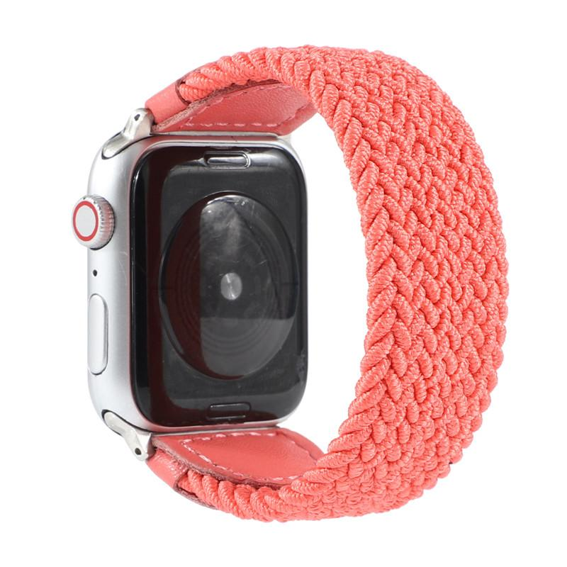 Nylon Stoff Lederband Band Smart Uhrband für Apple Uhren Bands Armband Iwatch 4 3 2 1 38mm 40mm 42mm 44mm