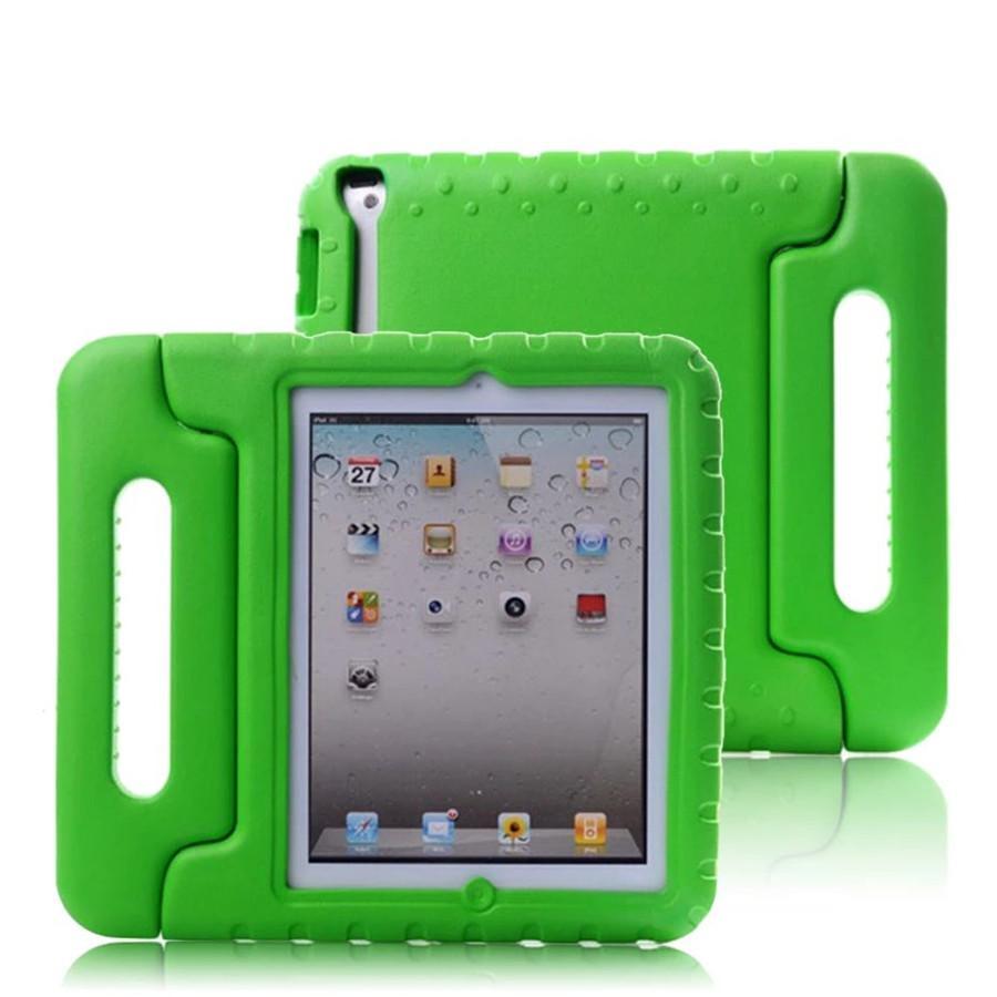 Caso para iPad 2 3 4 A prueba de golpes portátiles de mano EVA CUBIERTA CUERPO FULL CUBIERTE MANGO STOCK NIÑOS SILICONA SILICONA PARA CUCHILLA CUCHAR