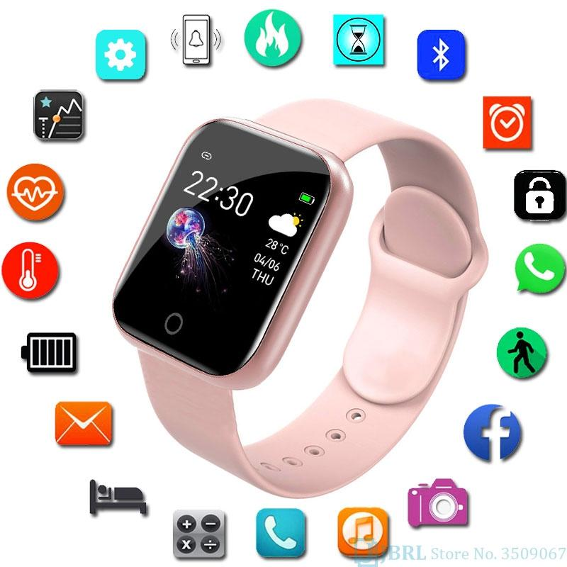 Nuove Smart Watch Watch Uomo SmartWatch per Android IOS Electronics Smart Orologio Smart Orologio Fitness Tracker Silicone Strap Smart Orologi Orologi # 7
