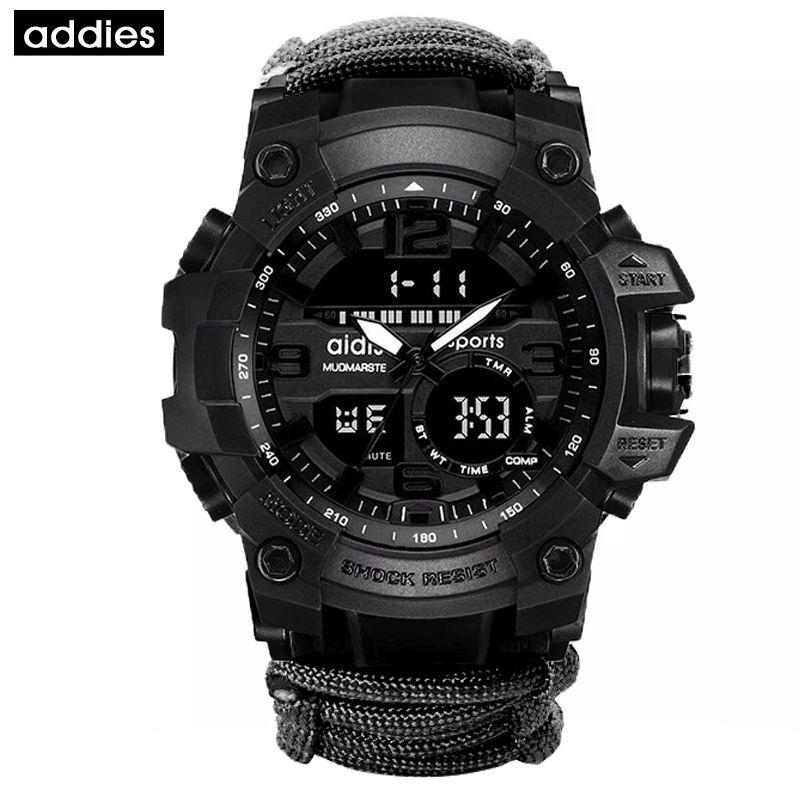 Addies Homens Militares Relógio Ao Ar Livre Compasso Multifuncional Waterproof Quartz Watch G Style Shock Relógio Digital Relogio Masculino 201201