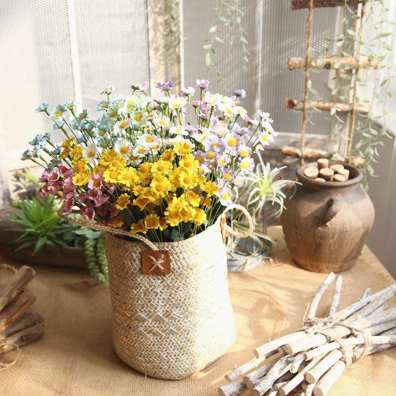 Главная Садовое Украшение Дейзи Цветочная ветвь Искусственные Цветы Декоративные Моделирование Пластиковые Цветы Поддельный Цветок