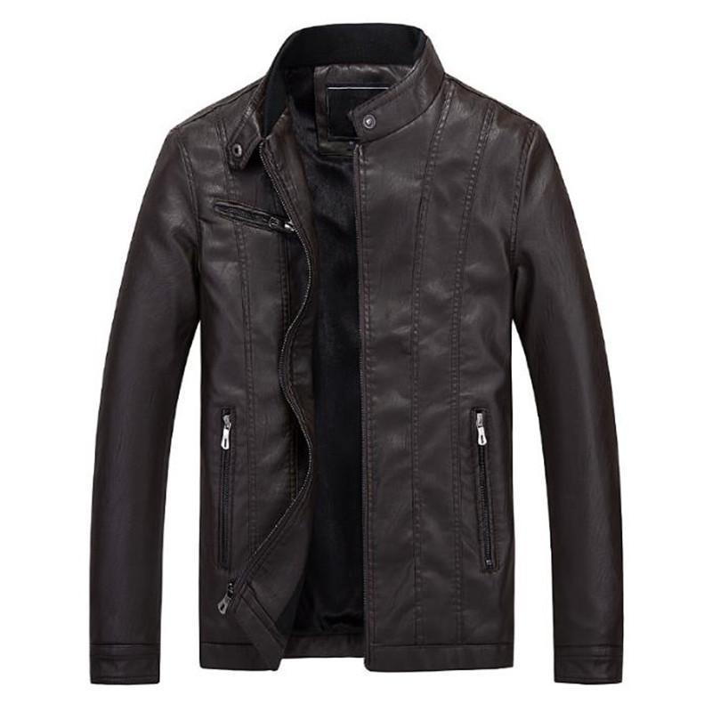 Nouvelle mode Casual Casual Cuir Manteau Moto Jacket De La marque Design Livraison Gratuite