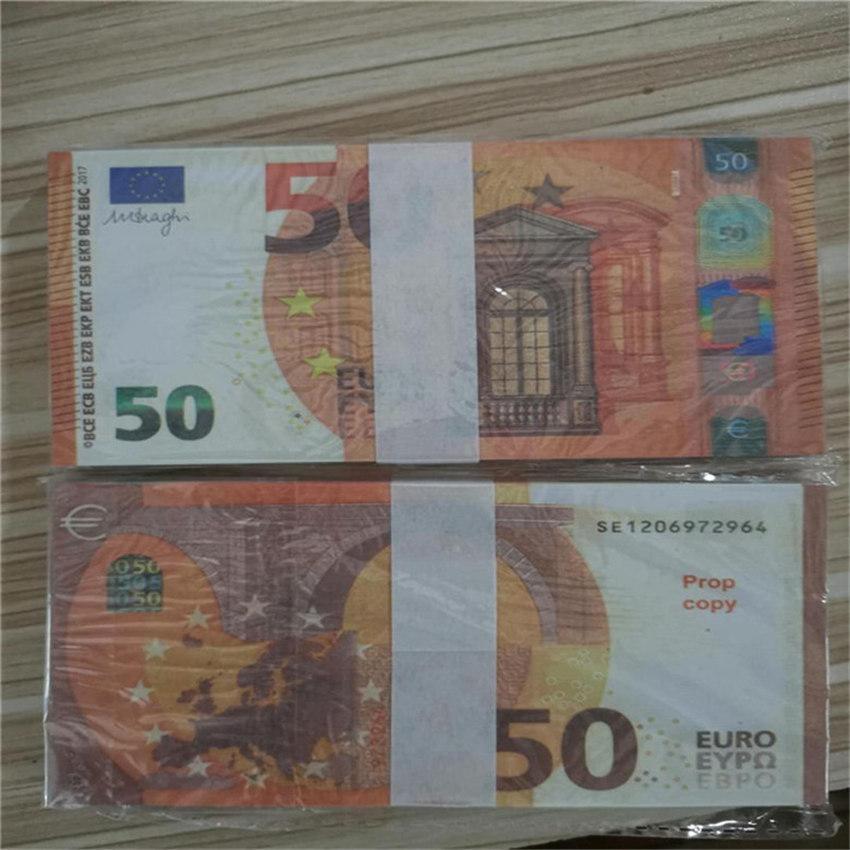 Contando Contando Cédulas e Praticar Cupons 50 Euros Banco Especial Uso Adereços 100 Movimentação de Simulação da UE
