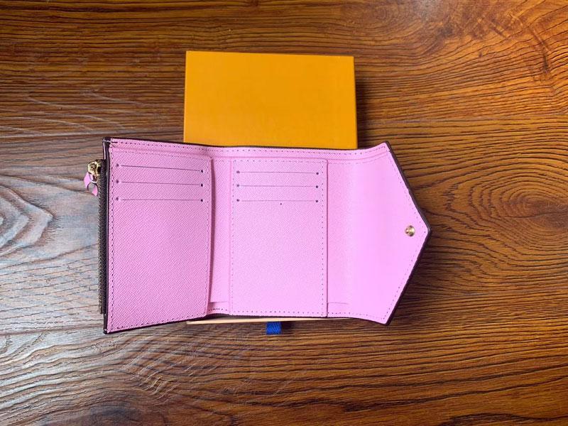 Portafoglio in pelle PU all'ingrosso per le donne Designer multicolore Breve portafoglio Portafoglio Portafoglio Donna Borsa Classic Zipper Pocket Victorine