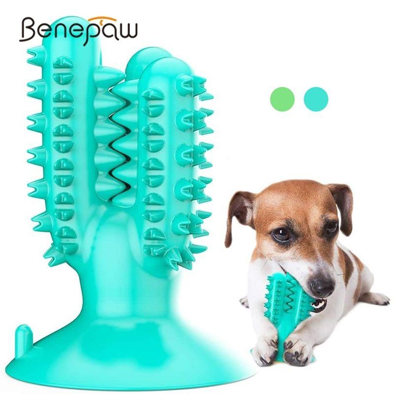 Benepaw Прочная резиновая собака жевать игрушки Зубная щетка экологически чистые зубы чистящие маленькие большие домашние игрушки для собак щенок прорезывания зубов LJ201125