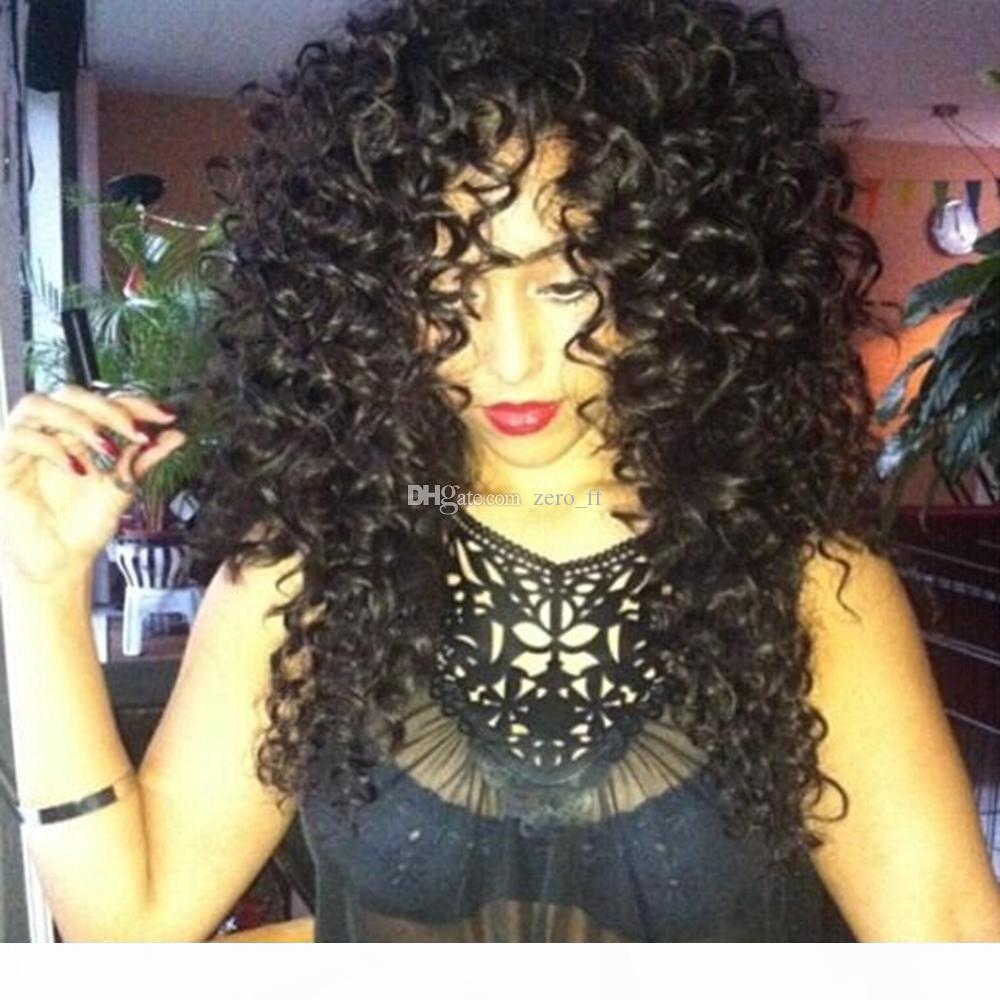 Шелковый верхний кружевной парик блестящий вьющиеся вьющиеся волосы волосы для волос Детские волосы бразильские девственные кружевные фронтальный парик шелковая база для черных женщин отбеленные узлы