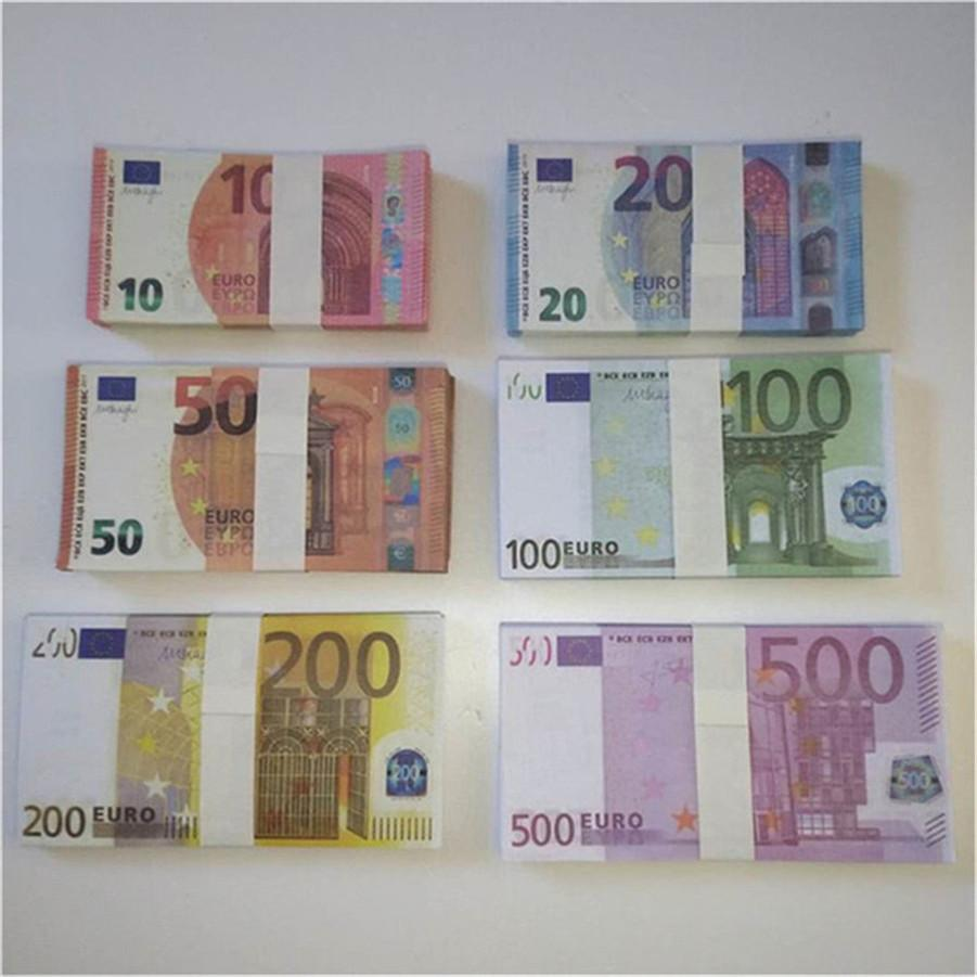 Alta qualità All'ingrosso Nightclub Bar Atmosphere Puntelli money Faux Billet Euro Fake Movie Garden Billet Euro Play Forys E27