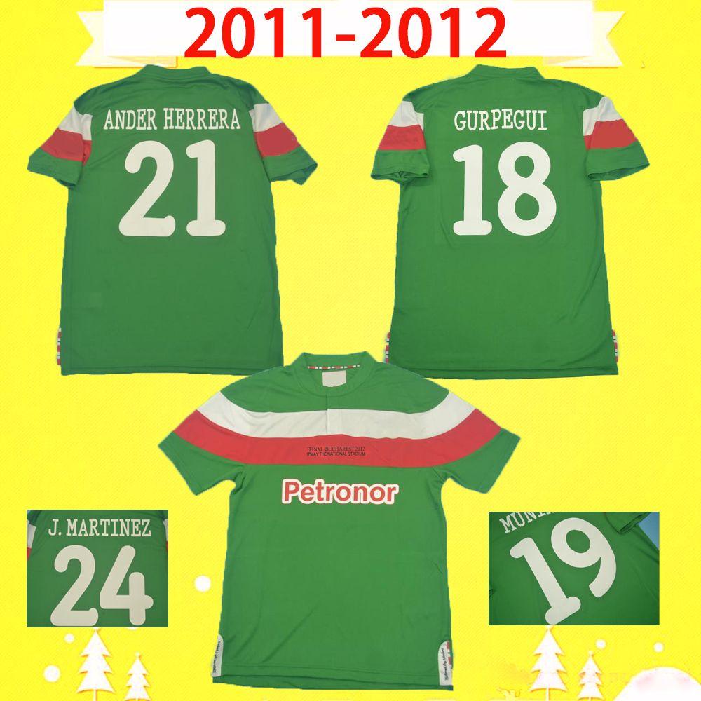 Final 2012 2012 Retro Athletic Bilbao Fussball Jersey 11 12 TOQUERO FUSSBALL HEMD Vintage Martinez Uniform Llorente Susaeta de Marcos Spanien