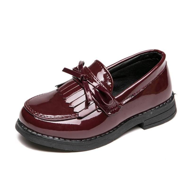 2020 niños zapatos casuales princesa bowtie soft cuero zapatos deportes moda botas de cuero vintage chicas zapatillas de deporte
