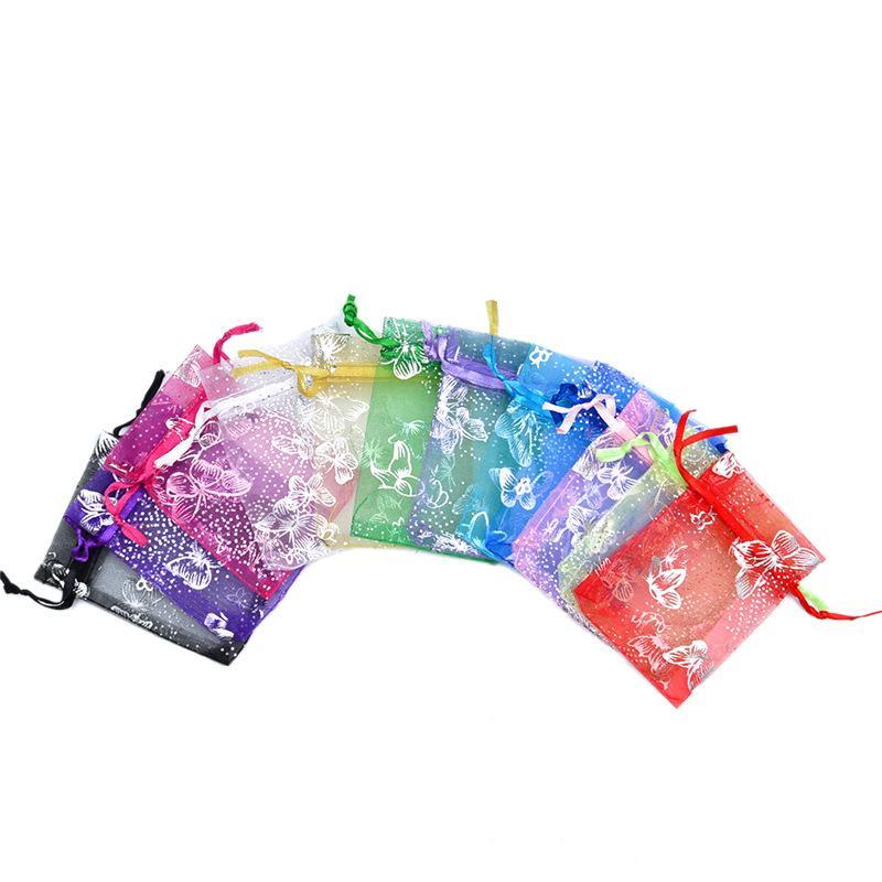 Fashion Cordon Bouche Organza Sacs Organza pour bébé Douches cadeaux de mariage Bijoux Sacs de rangement Paquet WB3450
