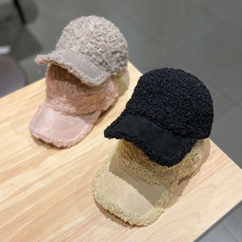 sombrero niños coreano moda ins cashmere pato mujer versátil casual cálido béisbol gorra otoño e invierno nuevo