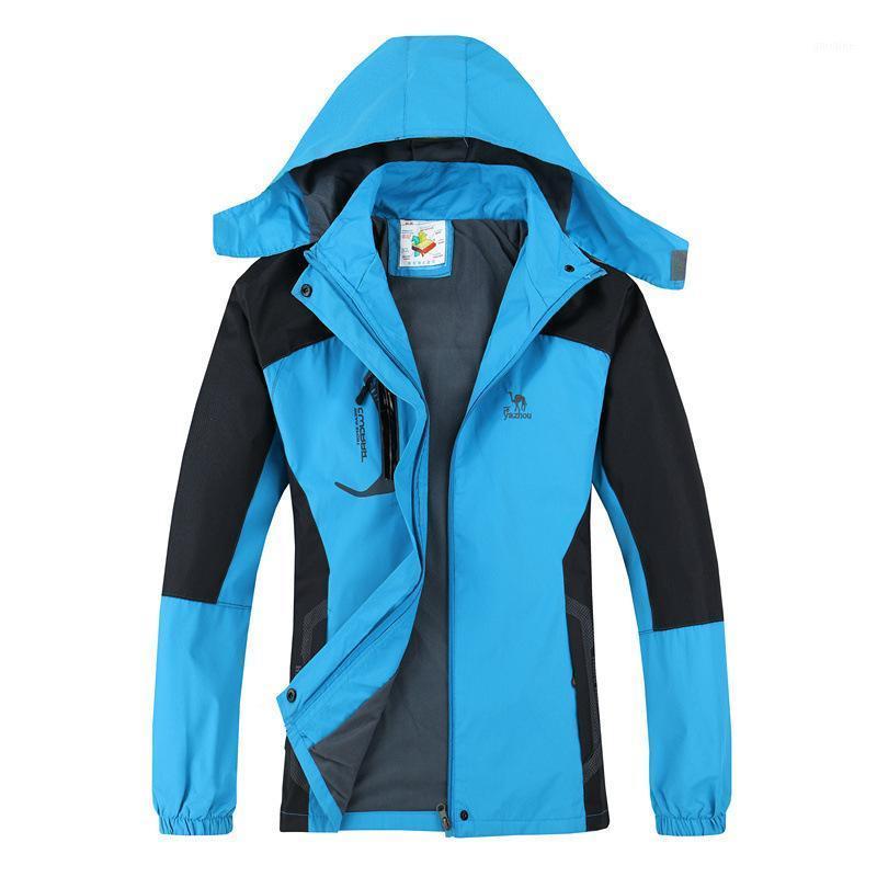 2019 Nuevas chaquetas de primavera Abrigos de mujer 3xl Casual Casual Capucha Para Mujeres Cortamones A prueba de viento A prueba de agua Marca Masculinas Chaquetas 1