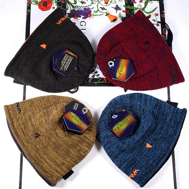 Beberes unissex Reversíveis chapéus de malha de inverno tampão do crânio do crânio da tampa de dois lados desgaste do Chapéu do beanie de Beanie Beanie Beanie Beanie Caps Presente