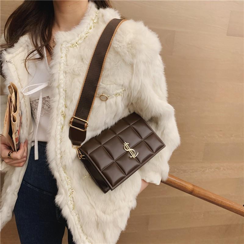 Handtaschen für farbe mode reise 2020 schulter kreuz klein körper feste webart weibliche frauen leder crossbody taschen tasche pu ljhwp