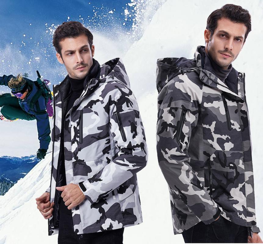 2020 New Winter Ski Suit For Men Set Windproof Waterproof Warm Skiing Snowboarding Suits Set Male Outdoor Hot Ski Jacket + Pants1