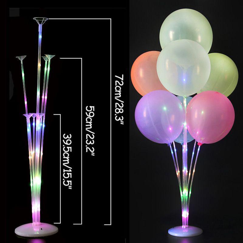 LED 가벼운 공기 공 스탠드 홀더 칼럼 아이들 생일 파티 풍선 스틱 웨딩 테이블 장식 Baloon 헬륨 Globos 성인 Ballon FFD4786