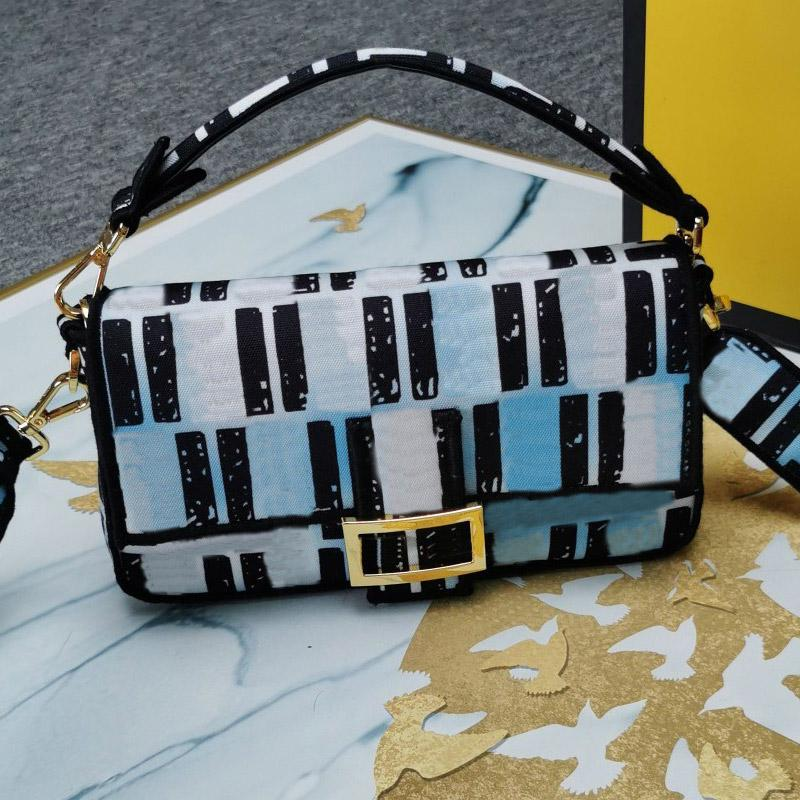 Dame Cross Body Bag Hand Taschen Messenger Bag Leinwand Echtes Leder Brief fluoreszierende Farbe, die hochwertige HASP-Münzbörse