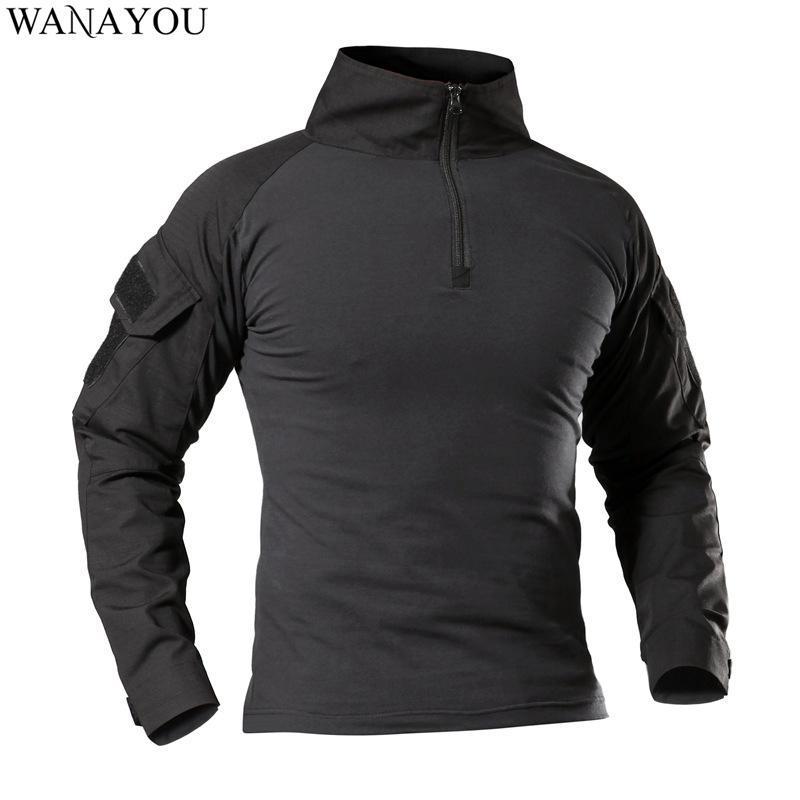 Мужчины тактические туристые футболки, на открытом воздухе армии туристых куртки, камуфляж с длинным рукавом спортивная рубашка, охотничья рыбалка одежда
